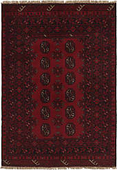 Nain Trading Afghan Akhche Rug 49x33 Dark Grey/Dark Brown (Afghanistan, Wool, Hand-Knotted)