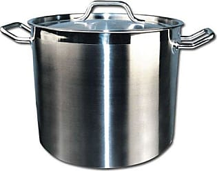 Winco USA Winware Stainless Steel 80 Quart Stock Pot with Cover