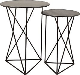 Dimond Home Geometric Metal Accent Tables
