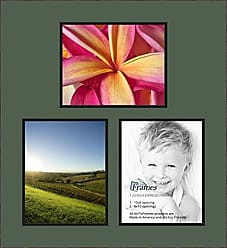 Art to Frames Double-Multimat-601-868/89-FRBW26061 Collage Frame Photo Mat Double Mat with 3-8x10 Openings and Espresso Frame