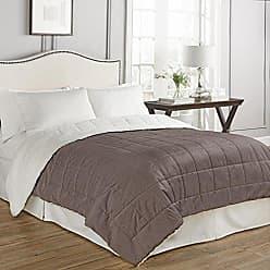 Ellery Homestyles Beautyrest Eiffel Warming Technology Blanket, Queen, Mocha