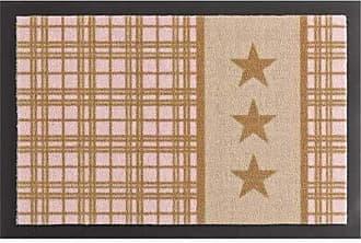 HANSE Home Schmutzfangmatte Sterne Plaid Beige Rosa 40x60 cm Fu/ßmatte 40 x 60 x 0,7 cm Polyamid