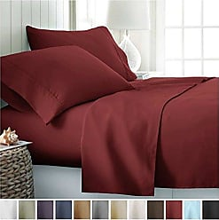 iEnjoy Home Home Collection IEH-4PC-FULL-CHOCOLATE 4 Piece Ultra Soft Sheet Set, Full, Chocolate