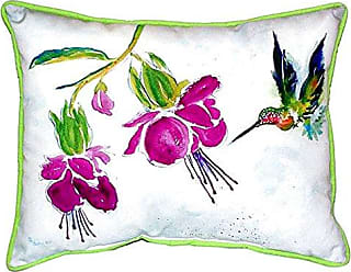 Betsy Drake SN940 Purple Hummingbird Pillow, 11 x14