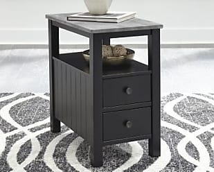 Ashley Furniture Ezmonei Chairside End Table, Black/Gray