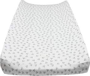 Burt's Bees Baby Honeybee Organic BEESNUG Fitted Changing Pad Cover - Heather Grey - One Size