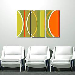 Ready2HangArt Ready2hangart 3 Piece Alexis Bueno Geometric Study II-B Canvas Wall Art, 24 x 36