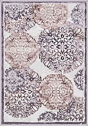 Unique Loom Aberdeen Collection Traditional Tone-on-Tone Textured Vintage Violet Area Rug (2 x 3)