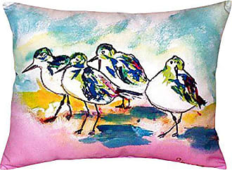 Betsy Drake NC953 Pink Sanderlings No Cord Pillow, 16 x20