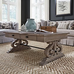 Overstock Tinley Park Traditional Dove Tail Grey Coffee Table