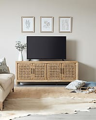 Hooker Furniture Ella 4-Door Basket Weave Entertainment Console