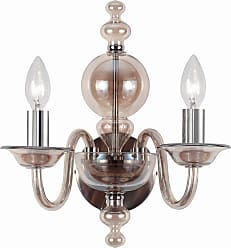 Crystorama 9842-CH-CG Wall sconce with Cognac glass body and Polished Chrome metal details
