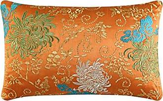 Five Queens Court Channing Throw Pillow, Tangerine