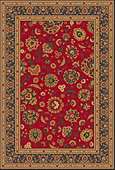 Milliken Carpet Pastiche Collection Aydin Octagon Area Rug, 77 x 77, Currant red