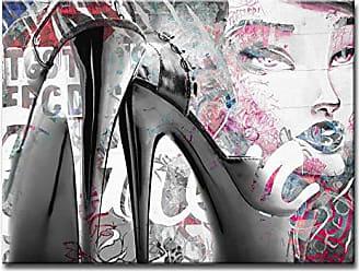 Ready2HangArt Ready2hangart Urban Fashion XXXIX Canvas Art, 20 H x 30 W, Pink