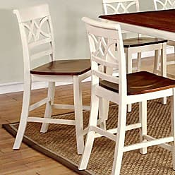 FURNITURE OF AMERICA 24/7 Shop at Home 247SHOPATHOME IDF-3552WC-PC Dining-Chairs, Antique White and Cherry