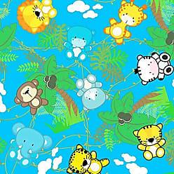 Lar Adesivos Papel de Parede Infantil Animais Safari Bebê Teen N4394