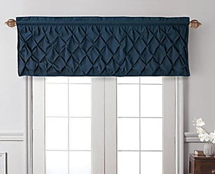 VCNY Home Carmen Tailored Window Valance, Window Treatment, 60 x20, Navy