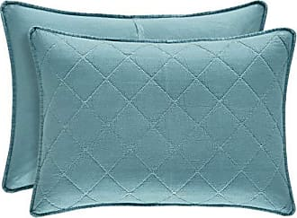 Five Queens Court Odessa Stonewash Quilted Bed Pillow Sham, Teal, King