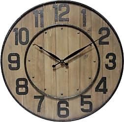 Infinity Instruments 23 diam. in. Wine Barrel Hanging Wall Clock - 14575WL-A