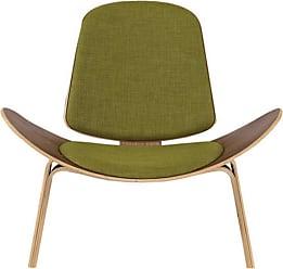Kardiel Tripod Plywood Modern Fabric Lounge Chair Atomic Moss Twill - TRIPOD-MOSS-WALNUT