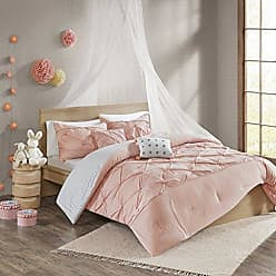 Urban Habitat Aurora 100% Solid Tufted Cotton Reversible 4 Piece Duvet Cover Set Teen Bedding, Twin/Twin XL Size, Blush