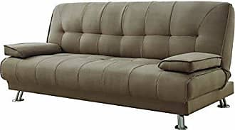 Coaster Convertible Sofa Bed with Removable Armrests Tan