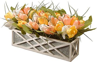 National Tree Company Artificial Tulips in Planter - RAS-S18112-1