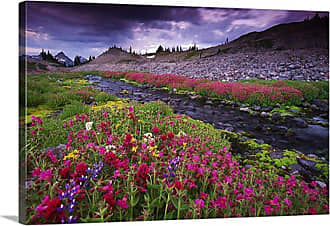 Great Big Canvas Flowing Red Canvas Wall Art - PAG0100140_24_24X16_NONE