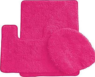 Ben&Jonah Ben & Jonah Simple Elegance by Ben&Jonah (18 x 30), 1 Contour Mat 1 Toilet Seat Cover (APX 18 x 18) -Neon Pink 3 Piece Bath Rug Set