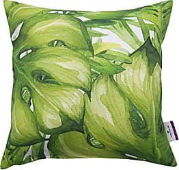 Baumwolle weiß//türkis TOM TAILOR T-Green Crap Kissenhülle 40 x 40 cm