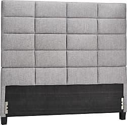Weston Home Baylor Linen Upholstered Column Headboard, Size: Full - 68E990BF-1GLHB