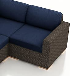 Harmonia Living Outdoor Harmonia Living Arden Resin Wicker Patio Right Arm Sectional - HLARD-CH-RAS-IN