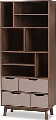 Ashley Furniture Britta Mid-Century Modern Bookcase, Brown/Gray