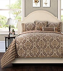 Jennifer Taylor Home 5 Piece Queen Size Plush and Luxurious Comforter Set, Brown