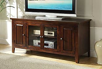Major-Q 9010346 Transitional Contemporary Style Chocolate Finish Rectangular Wooden Top and Frame TV Stand