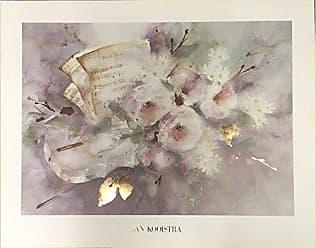 Buyartforless Twelve Duets by W A Mozart by Jan Kooistra 28x22 Floral Art Print Poster Gold Foil Embellished