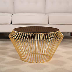 Abbyson Penley Stainless Steel Coffee Table Rose Gold - QF-16-018-COF-RSG