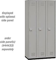 Salsbury Industries 1-Tier Heavy Duty Plastic Locker with Three Wide Storage Units, 6-Feet High by 18-Inch Deep, Gray