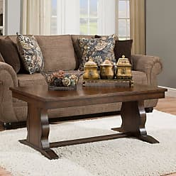 United Furniture Rectangle Coffee Table with Church Pew Base - 7534-45