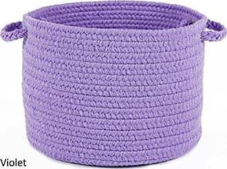Rhody Rug Fun Braids Solid Violet 10 x 8 Basket