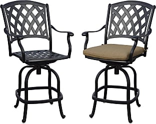 DARLEE Outdoor Darlee Ocean View Counter Height Patio Bar Stool with Cushion - H201630-7CH-4