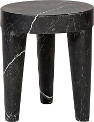Kelly Wearstler Large Tribute Stool In Negro Marquina Marble