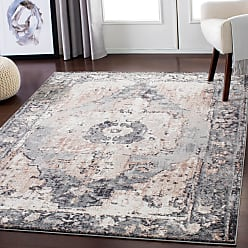Overstock Gray Distressed Traditional Area Rug (710 x 103) - 710 x 103 (710 x 103 - Grey/Cream)