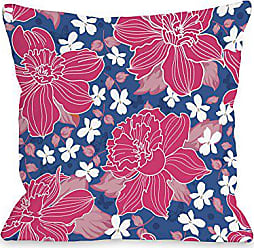 One Bella Casa Exotic Flowers Throw Pillow by OBC, 16x 16, Blue/Multi