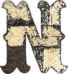 Zentique Zentique Medieval Patched Metal Letter, Small, Monogrammed N