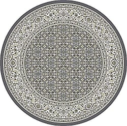 Dynamic Rugs ANR5570115666 Ancient Garden Collection Area Rug 53 Round Grey/Cream