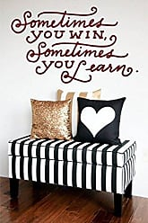 The Decal Guru Sometime You Win or Learn Vinyl Quote Saying Wall Art Peel and Stick Funny Inspirational Home Decor Sticker (Burgundy, 21x35 inches)