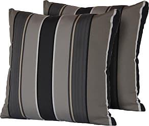 TK Classics Grey Mix Stripe 18 x 18 in. Outdoor Throw Pillow - Set of 2 - PILLOW-GREYMIX-S-2X
