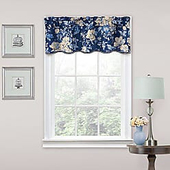 Ellery Homestyles Traditions by Waverly 11467052016IND Forever Yours 52-Inch by 16-Inch Floral Window Valance, Indigo